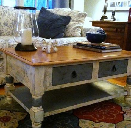 Antiqued Crackled Table