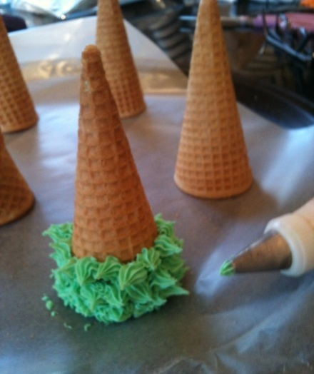 Cake Frosting Trees