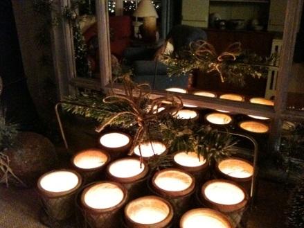 Christmas Flowerpots Candles
