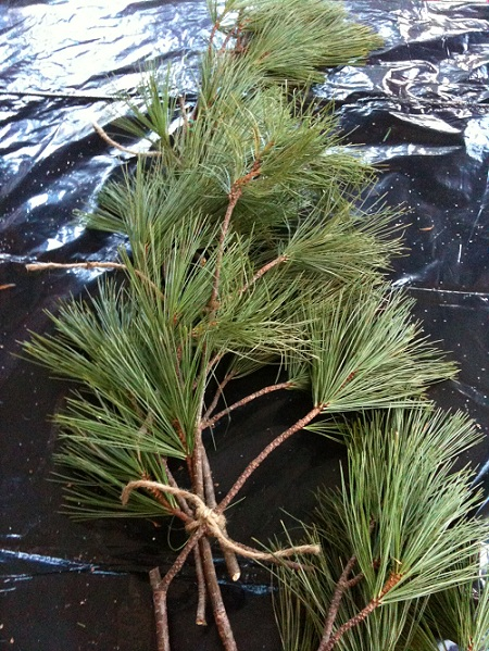 Christmas Pine Boughs on Country Design Home