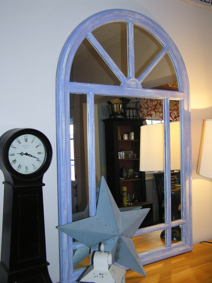 Arched Mirror Steel Blue
