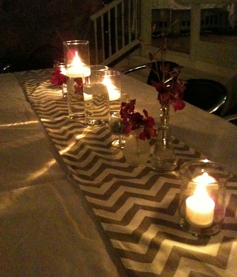 Wedding chevron table runners