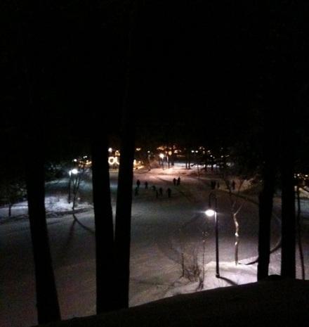 Jackson Skaters at Night
