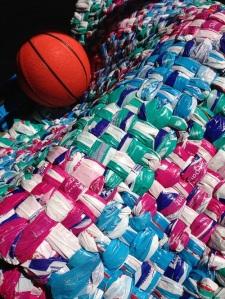 rug and basketball