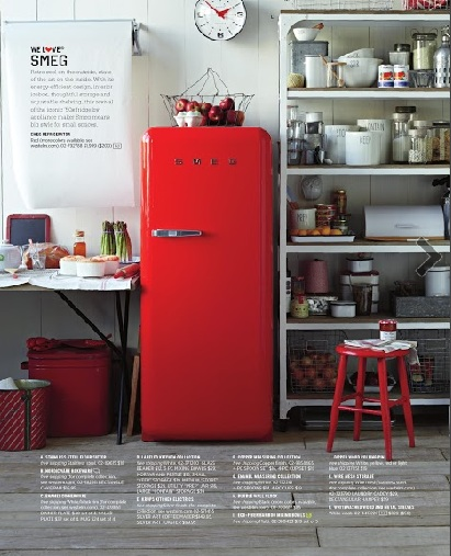 West Elm Smeg Fridge