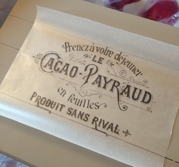 French Typography Wax Paper Transfer Archives Country
