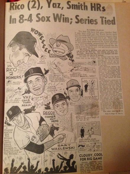 Ballgame 67 Sox Cartoon