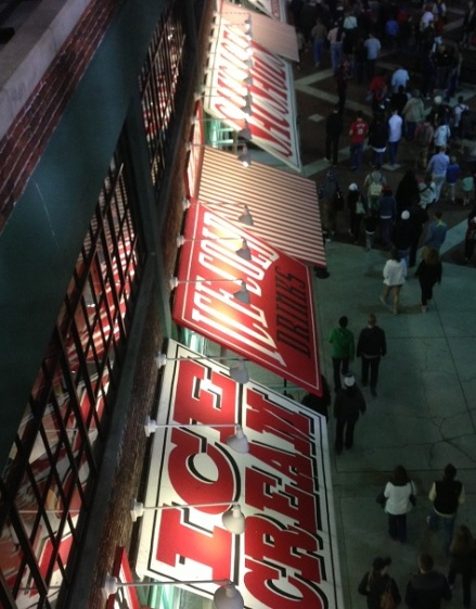 Ballgame concession signs