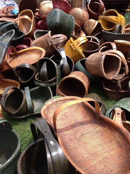 Brimfield Basket Pile Rustic