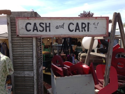 Cash and Cari Sign
