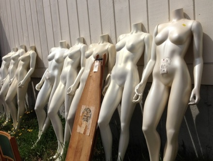 Brimfield Mannequins and Ironing Board