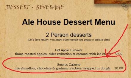 smores menu item