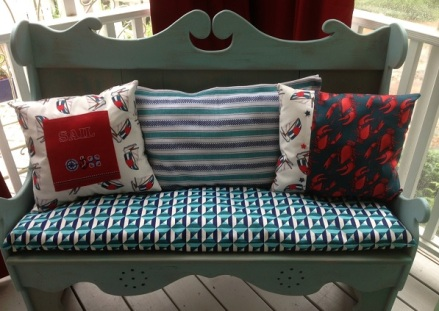 Bench Three Pillows