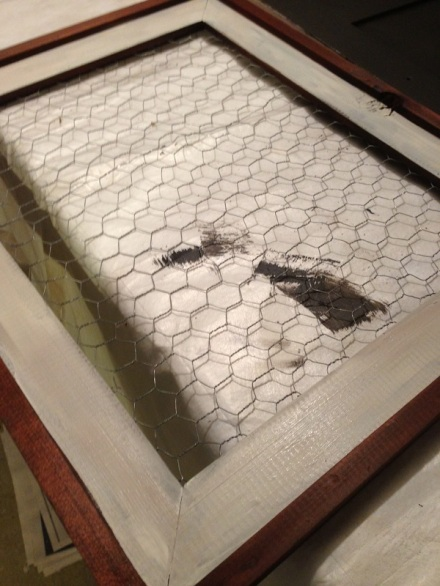 Chicken Wire attached to frame