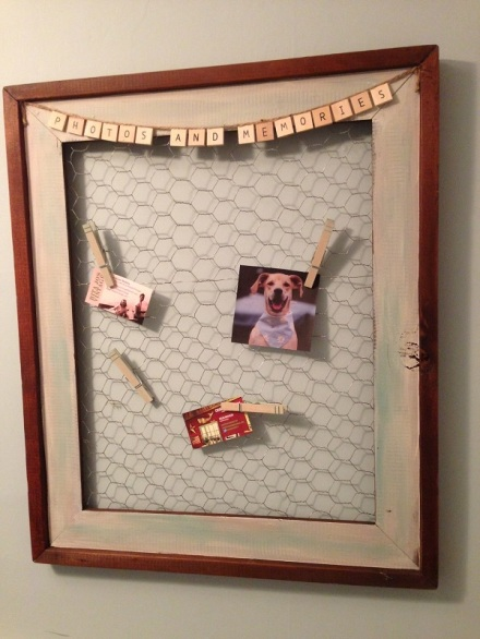 Chicken Wire Memory Frame Blue