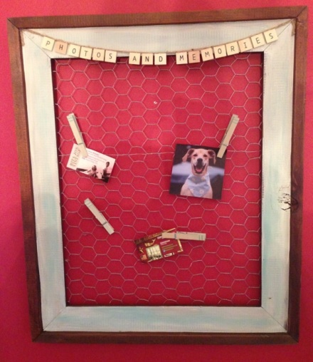 Chicken Wire Memory Frame Red