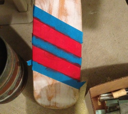 Paddle Red Stripe Taped