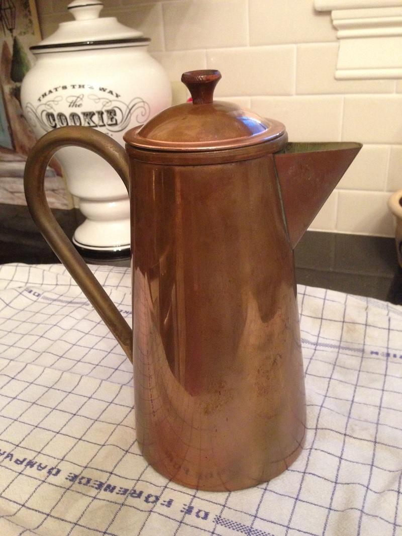 Copper Coffee Pot Before