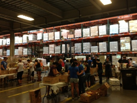Greater Boston Food Bank Sorting