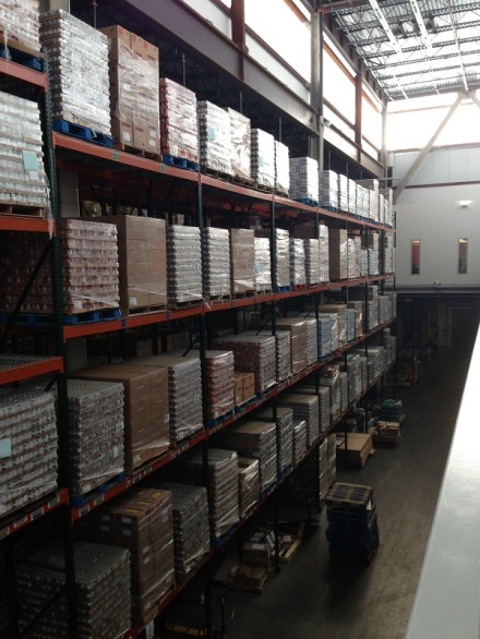 Greater Boston Food Bank Warehouse Shelves