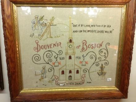 Boston Embroidery Print
