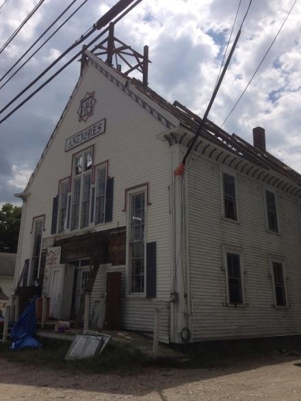 Burned Out Antiques Building