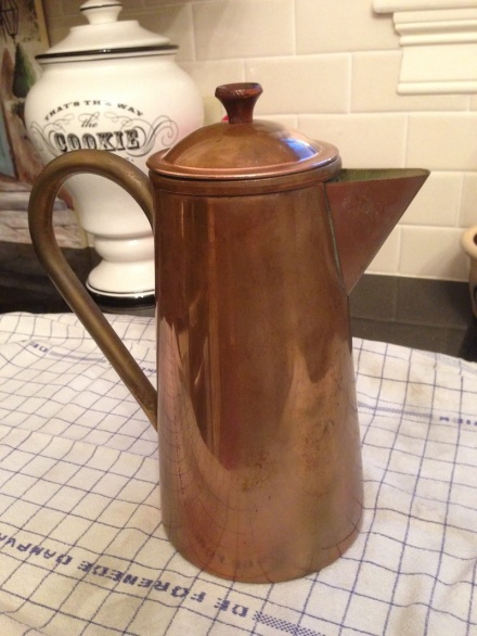 Copper Coffee Pot Before
