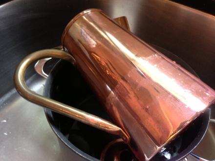 Copper Pot half dipped