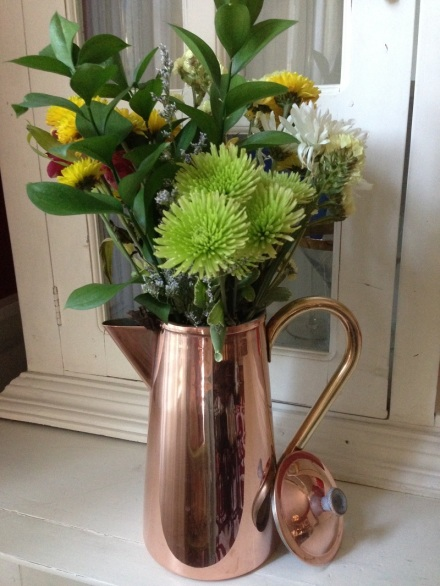 Copper Pot with flowers