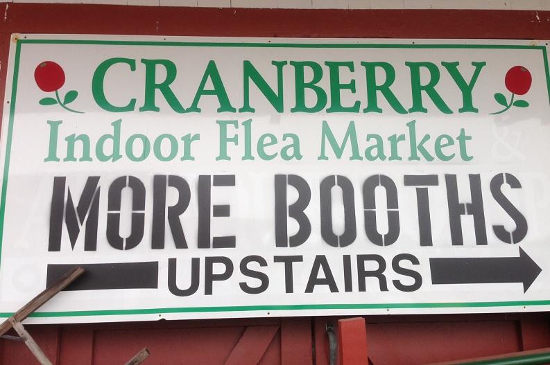 Cranberry Flea Sign