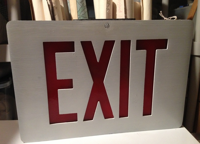 Harry Barkers Exit Sign
