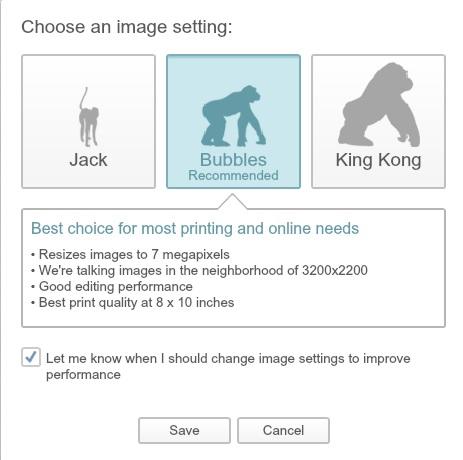 Pic Monkey Print Settings