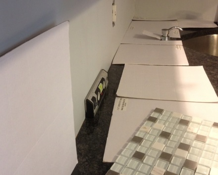 Backsplash cardboard