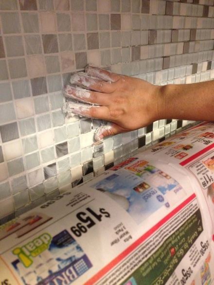 Backsplash Fingerpainting