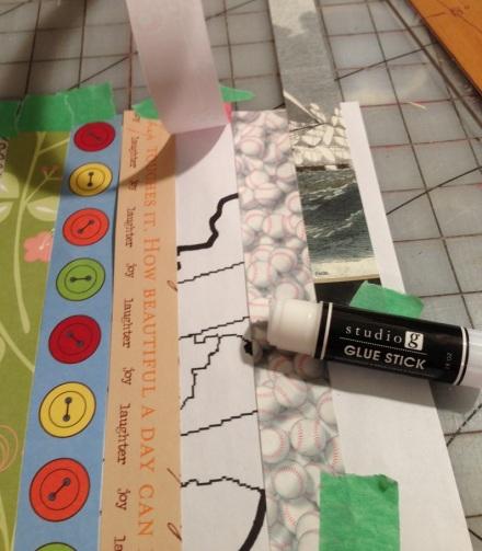 Map Glueing Strips to Backing