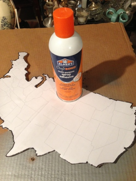 Map Mounting with Elmers Craft Bond