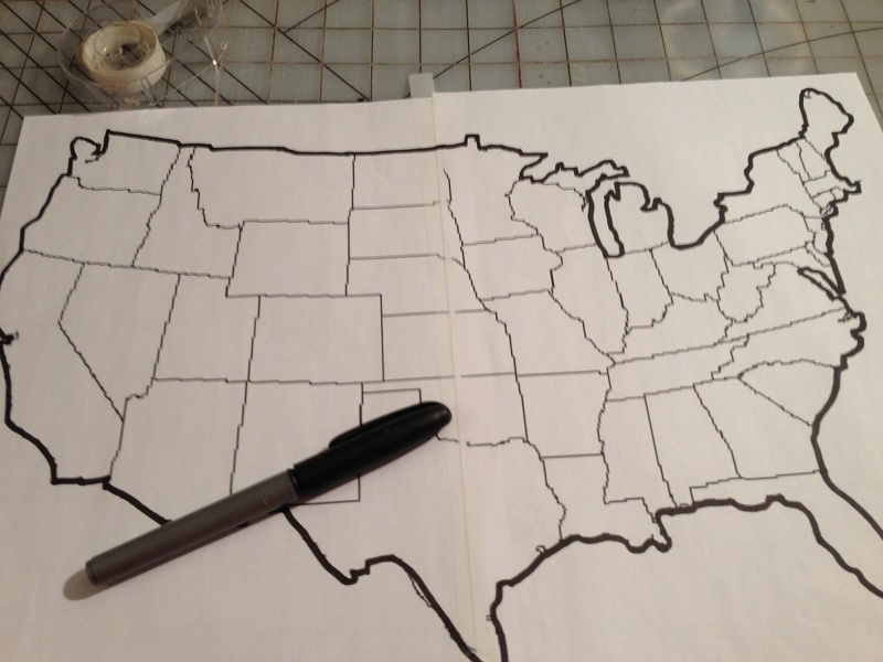 Line Art Usa Map : Making a patchwork map u country design home