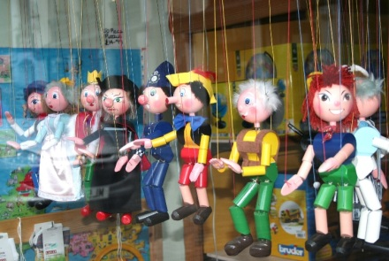 Puppets in Window