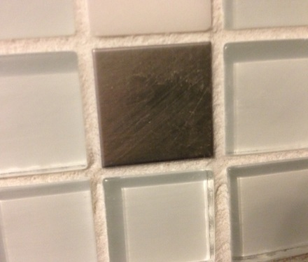 Scratched Stainless Tile