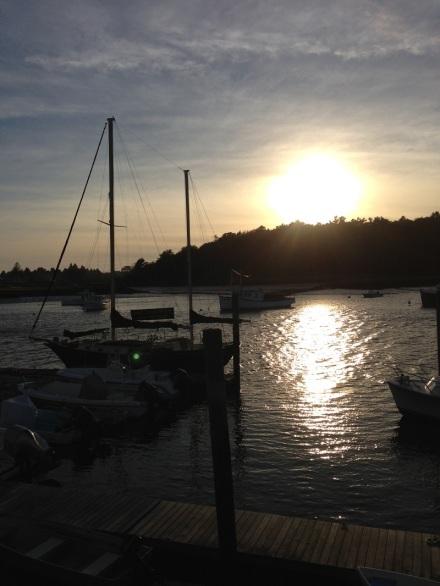 Boats in the Setting Sun