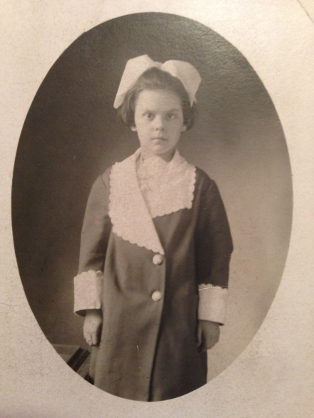 Child Lally with White Bow