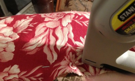 Stapling Top Fabric in Place