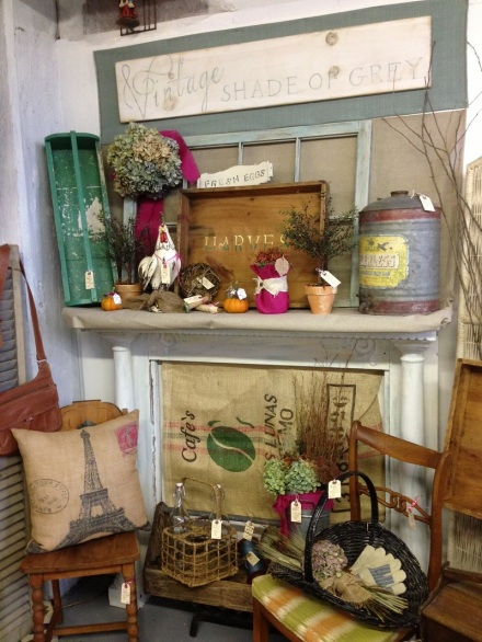 Vintage Shades of Grey Mantel