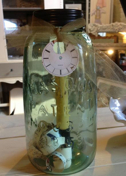 Antique Mason Jar Candle Holder