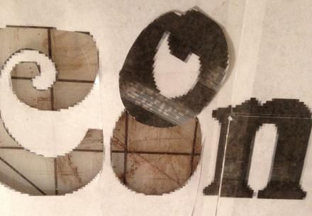 Cut Out Letters Closeup
