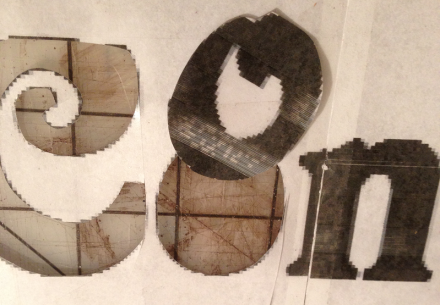 Cut Out Letters Closeup