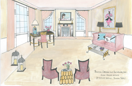 Glen Magna Drawing Room Donna Terry Rendering