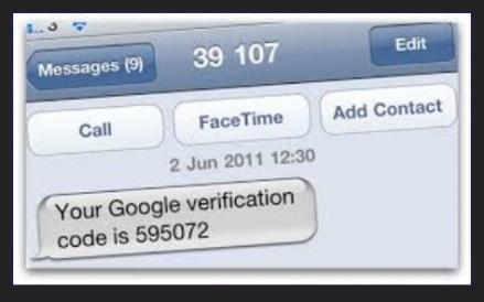 google verfication code