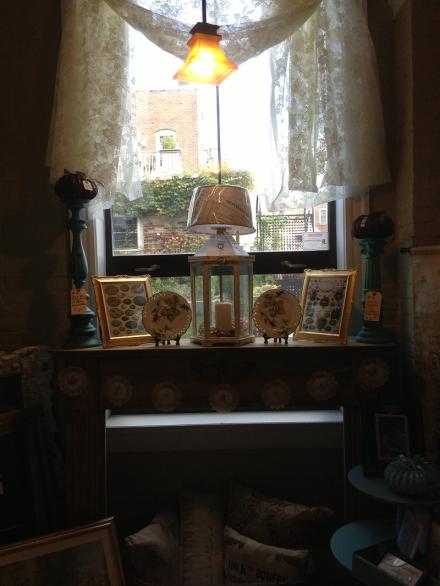 Lace Window Vignette