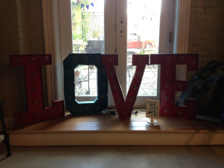 LOVE sign Flea Circus